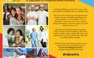 Win a Holiday to the Philippine Capital in celebration of the 70th year of the Philippine-British Diplomatic Relationship