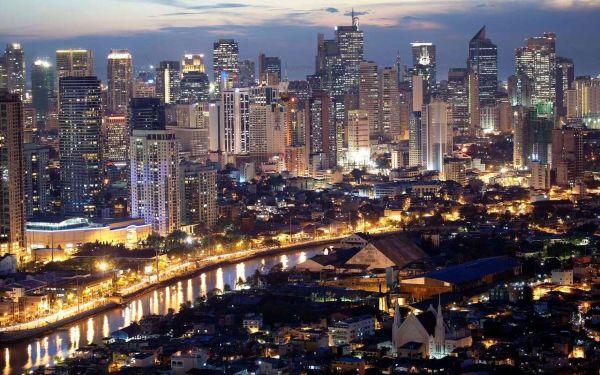 Manila skyline night