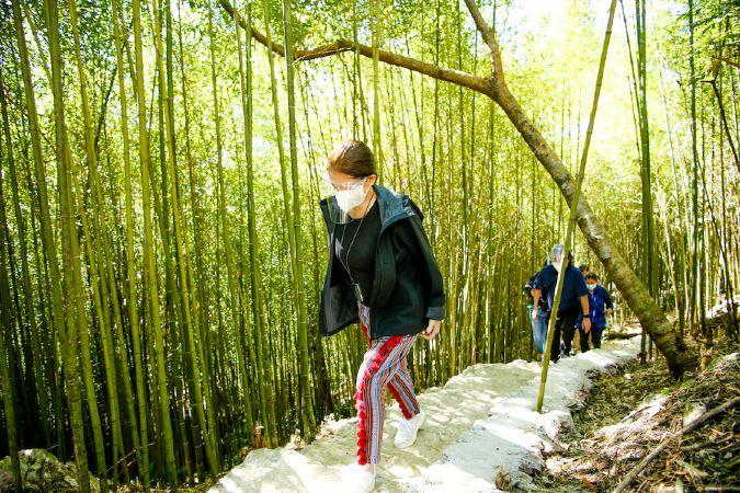 PH DOT Secretary Berna Romulo Puyat in Mirador bamboo trail
