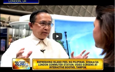 ABS CBN Balitang Global Channel Features PDOT Experiential Activity at King's Cross Station