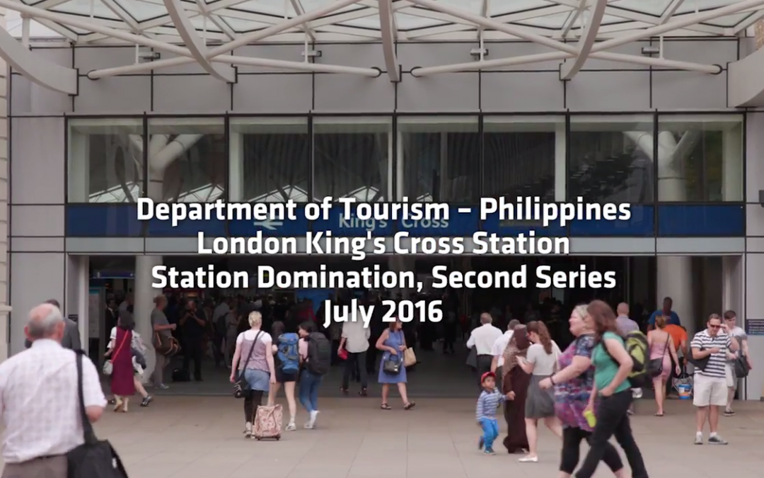 Department of Tourism Philippines London King's Cross Station Domination July 2016