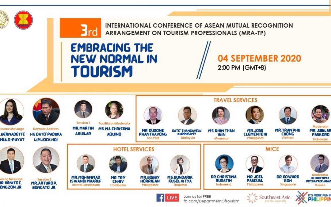 PHL hosts 3RD  ASEAN meet on tourism professionals; DOT commits to beef up competency of tourism workforce in the new normal