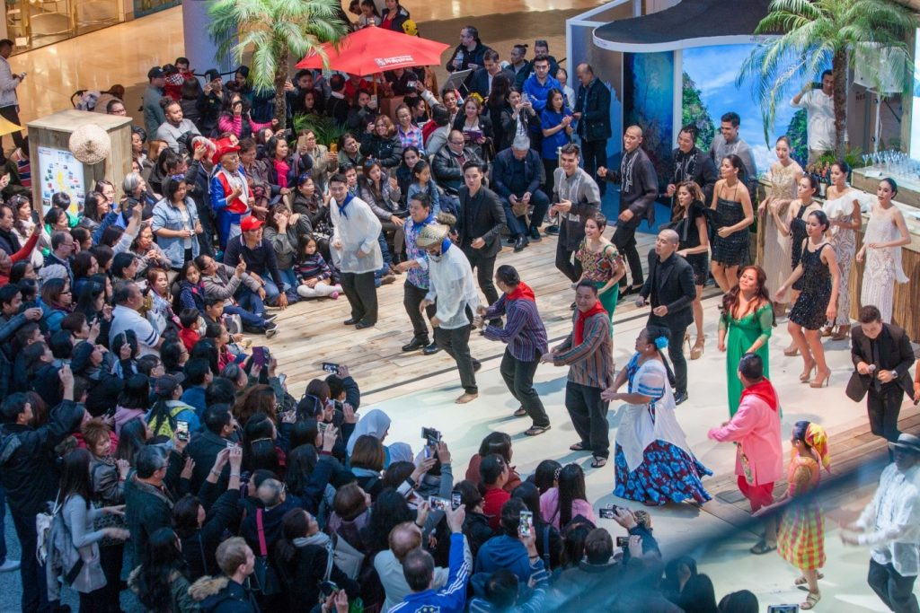 The Lahing Kayumanggi Dance Company Performing at Westfield Shopping Centre in London